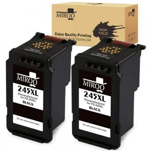 MIROO Remanufactured Replacement for Canon PG-245 XL Ink Cartridge 2 Pack,Work on Canon PIXMA MX492 MG2520 MG2920 MG2420 MG2522 MG2922 IP2820 MX490 MG2525 MG3020 MG2555 MG2924 MG3022 MG3029 Printer