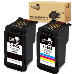 MIROO Remanufactured Replacement for Canon PG-245XL CL-246XL PG245 CL246 XL Ink Cartridge Combo,Work with Canon PIXMA MX492 MG2520 MG2920 MG2420 MG2522 MG2922 IP2820 MX490 MG2525 MG3020 MG2555 Printer