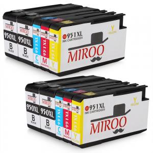 MIROO HP 950 2Set+2BK Compatible Ink Cartridges