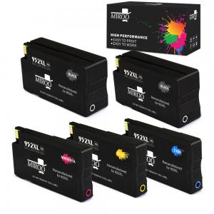 MIROO 5 Pack Remanufactured for HP 952xl 952 Ink Cartridge High Yield (2 Black 1 Cyan/Magenta/Yellow),Compatible with HP OfficeJet Pro 8710 8720 7740 8740 8715 8725 8730 8702 8216 8218 8716 8728 Printer